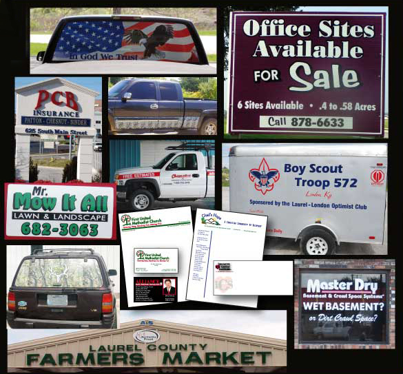 signs banners magnetics lettering graphics logos